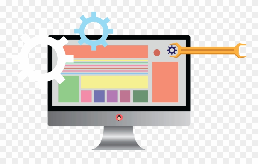 Software dev clipart vector stock Software Development Clipart Client Computer - Web Design ... vector stock