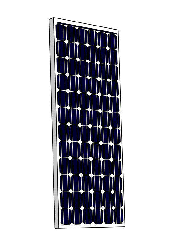 Solar panels and money clipart image black and white download Solar Panel Clip Art Solar power also known as clean as well as low ... image black and white download