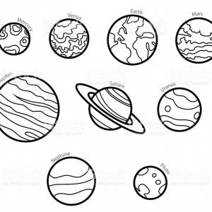 Solar system cartoon black and white clipart clip art royalty free download Best Free Planet Clip Art Black And White Vector Images ... clip art royalty free download