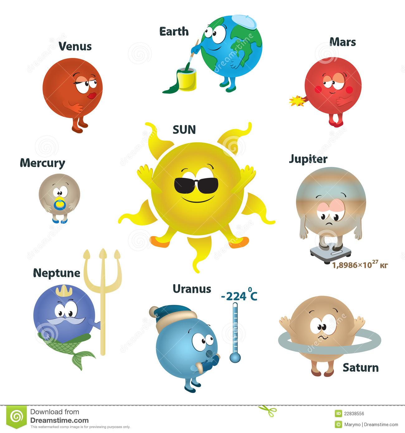 Solar system clipart kindergarten clip art free library Solar system clipart for kids - ClipartFest clip art free library