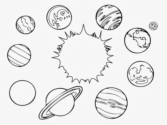 Solar system clipart kindergarten banner download Solar system black and white clipart - ClipartFest banner download