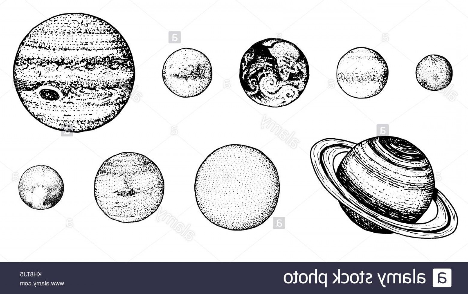 Solar system clipart renaissance clipart free stock Stock Image Planets In Solar System Moon And The Sun Mercury ... clipart free stock
