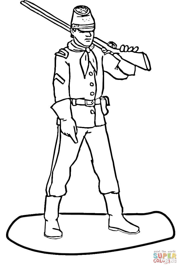 Soldier coloring clipart png library library Soldier coloring page | Free Printable Coloring Pages png library library