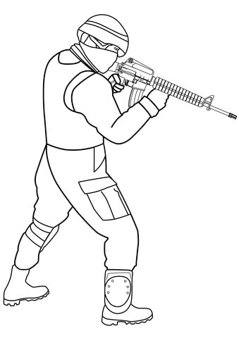 Soldier coloring clipart picture royalty free library Special Forces Soldier coloring page | Free Printable ... picture royalty free library