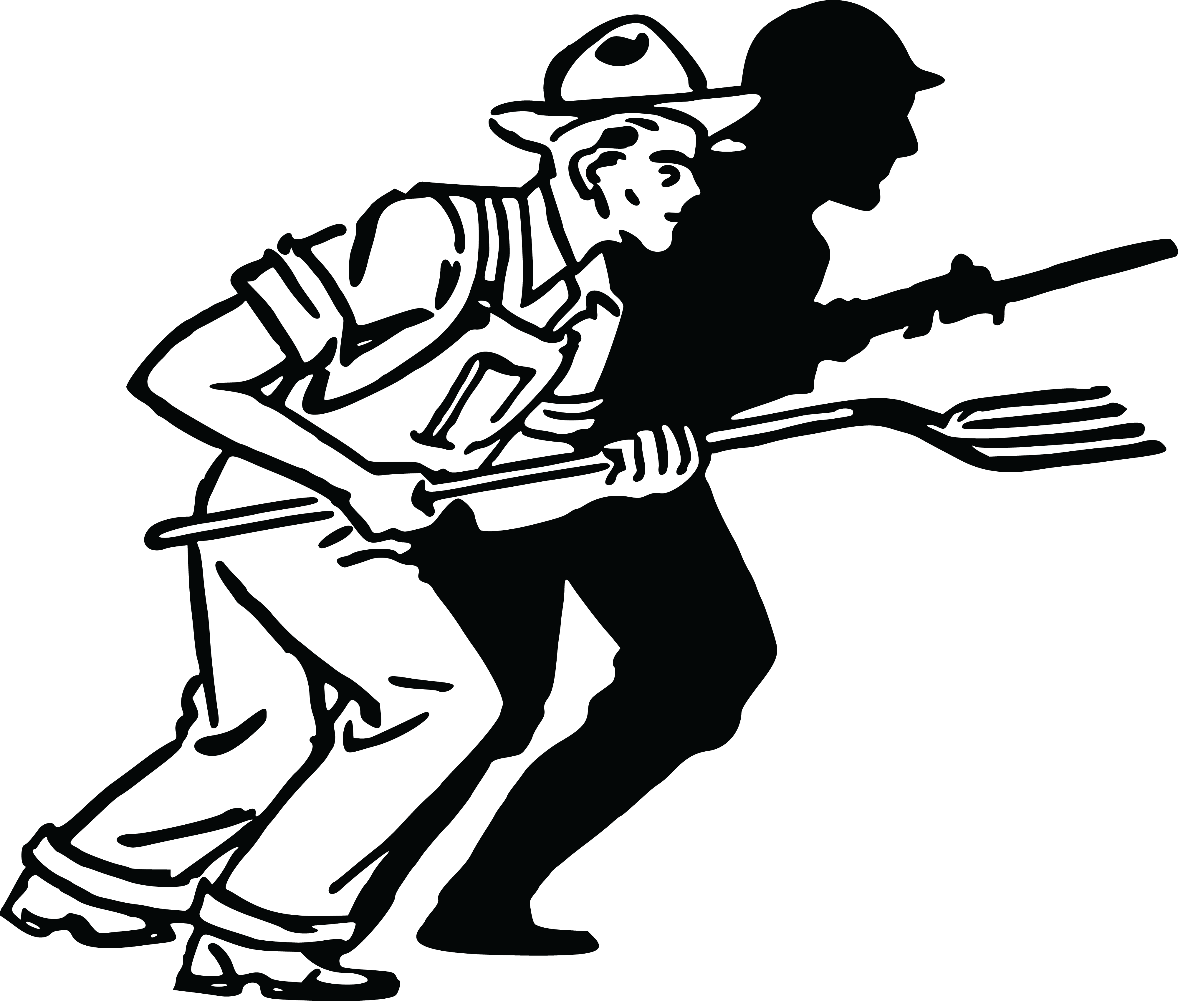 Turkey band clipart png royalty free Soldiers Marching Silhouette at GetDrawings.com | Free for personal ... png royalty free