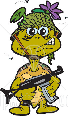 Soldier turtle clipart clip freeuse download 40828-Clipart-Illustration-Of-A-Stinky-Turtle-Soldier-Surr ... clip freeuse download