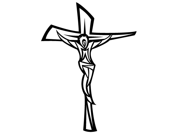 Soldiers and jesus cross black and white clipart clip art free library Jesus Christ On Cross Vector clip art free library
