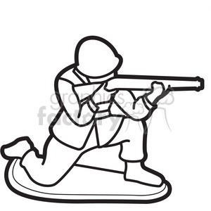 black white toy military soldier illustration graphic clipart. Royalty-free  clipart # 398048 banner download