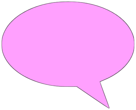 Solid bubble clipart banner transparent library comment bubble solid pink left - /signs_symbol ... banner transparent library