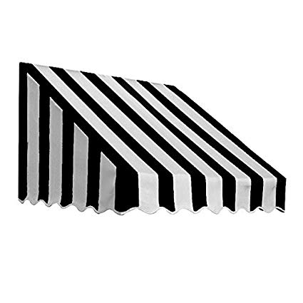 Solid color awning clipart clip library Awntech 6-Feet San Francisco Window/Entry Awning, 31-Inch Height by 24-Inch  Diameter, Black/White clip library