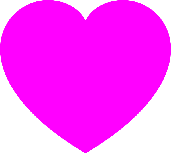 Solid heart clipart vector library download Solid Pink Heart Clip Art at Clker.com - vector clip art online ... vector library download