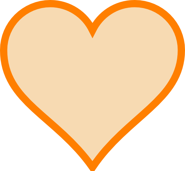 Solid heart clipart picture freeuse download Solid Orange Heart Clip Art at Clker.com - vector clip art online ... picture freeuse download