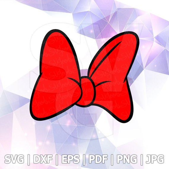 Solidbow clipart clip royalty free stock Minnie Mouse Red Bow SVG Vector Silhouette Cricut Vinyl Cut ... clip royalty free stock