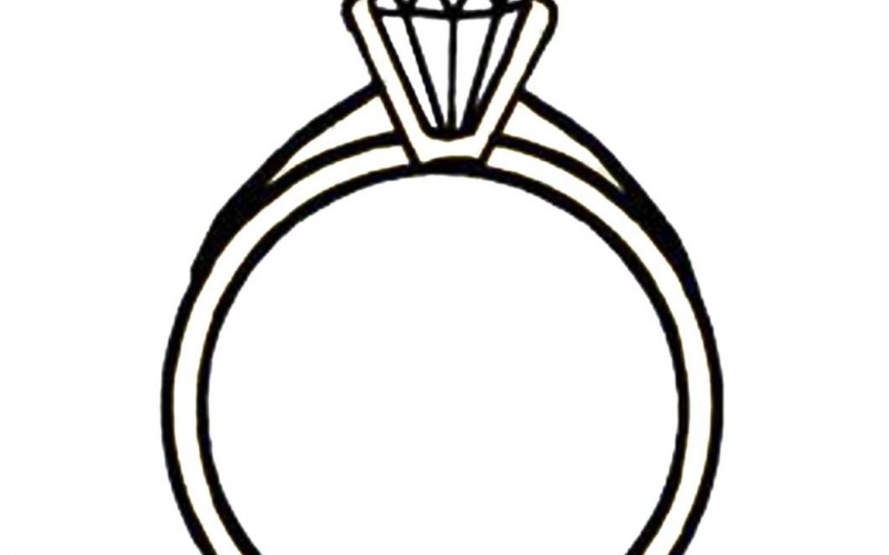 Solitaire ring clipart vector transparent library Engagement Ring Clipart | Clipart Panda - Free Clipart Images vector transparent library