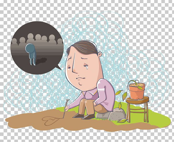 Solitude clipart banner freeuse stock Cartoon Solitude Illustration PNG, Clipart, Child, Comics ... banner freeuse stock