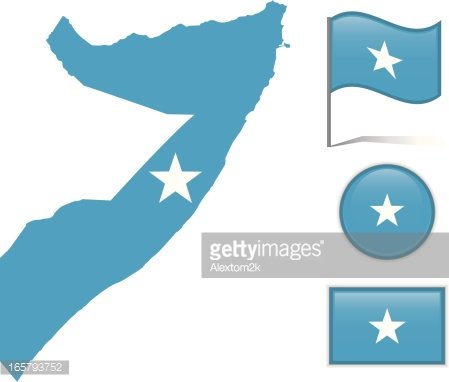 Somalia map clipart picture transparent library Somalia Map & Flag premium clipart - ClipartLogo.com picture transparent library