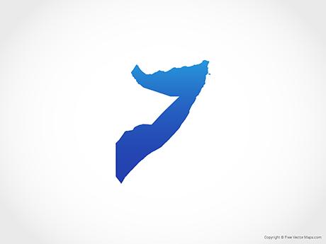 Somalia map clipart svg black and white download Vector Maps of Somalia | Free Vector Maps svg black and white download
