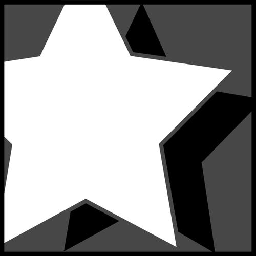 Sombra branca clipart jpg library Clipart vetorial de ícone de estrela com sombra   Vectores ... jpg library