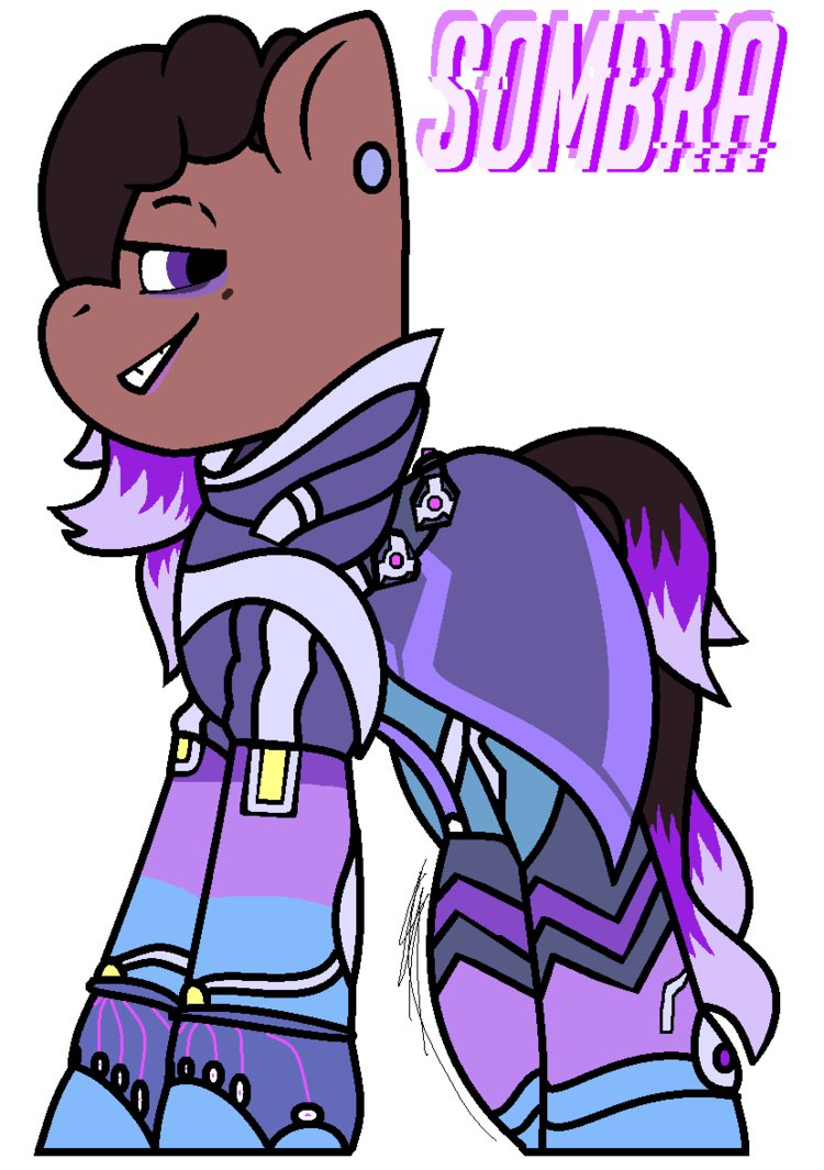 Sombra clipart overwatch picture black and white download Overwatch] Sombra Pony Style by EivilPotter on DeviantArt picture black and white download