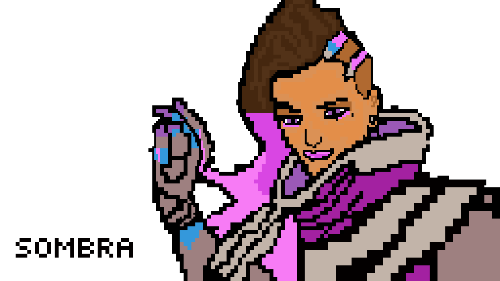 Sombra clipart overwatch graphic royalty free Pixilart - Overwatch Sombra by Ninja-Seal graphic royalty free