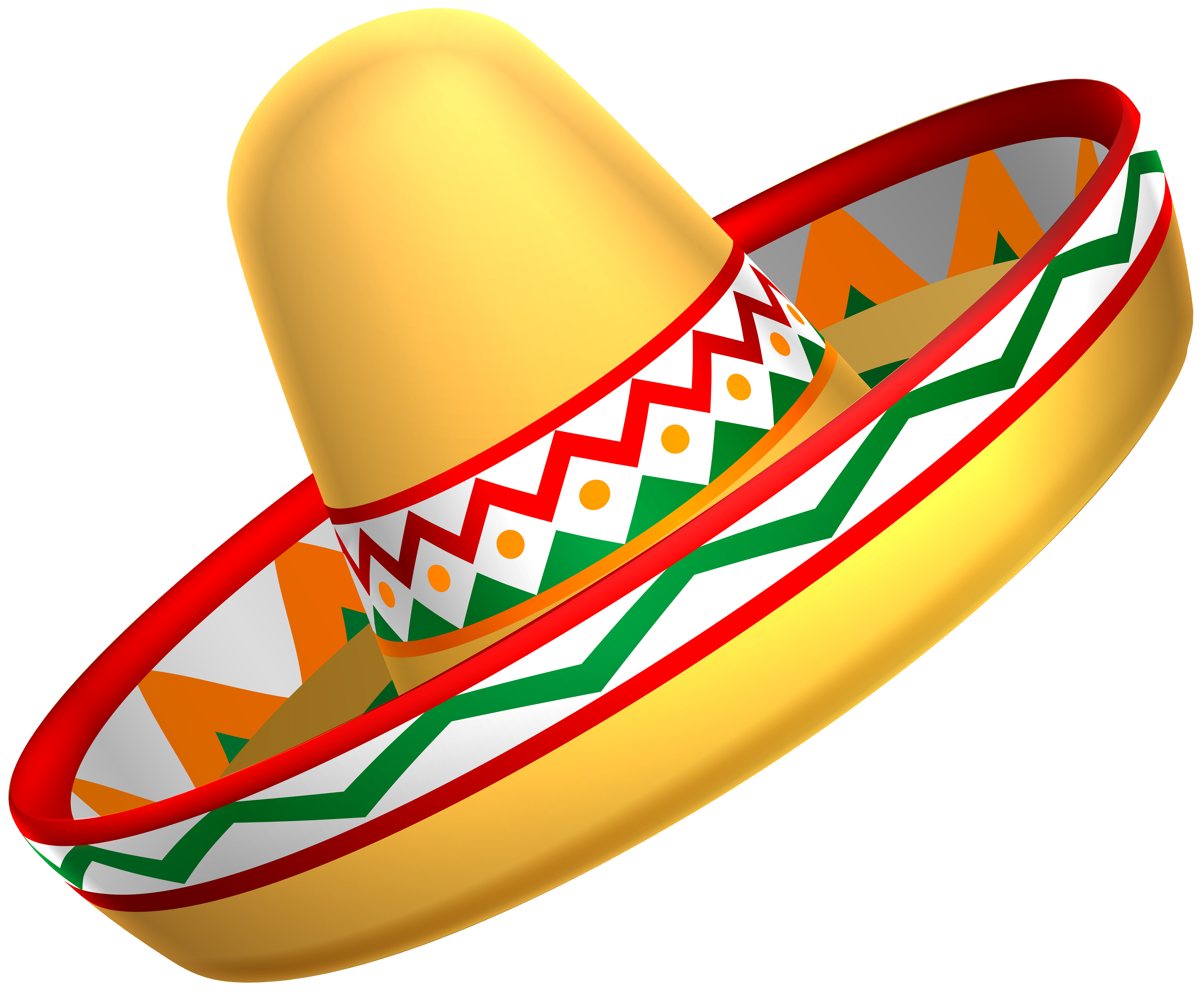 Sombrero clipart png clip freeuse library Mexican Sombrero Hat Transparent PNG Clip Art | Gallery ... clip freeuse library