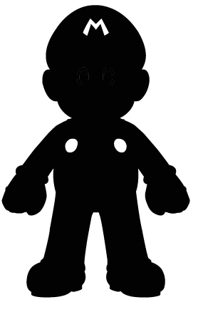 Sombras em clipart png free library Mario Silhouette by Ba-ru-ga ...   Sombras e silhuetas ... png free library