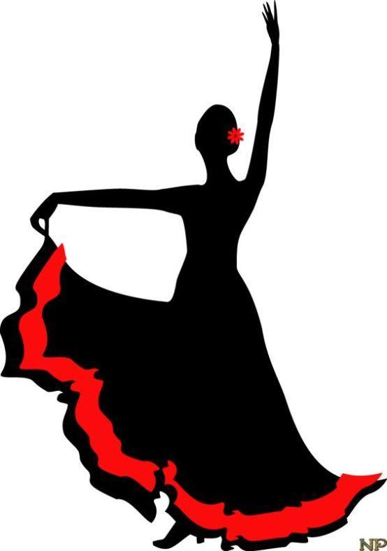 Sombras em clipart png stock Tatuagem de dançarina de flamenco em estilo sombra   Cakes ... png stock