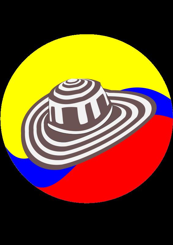 Sombrero colombiano clipart image Free Clipart: Sombrero Vueltiao   dpv101 image