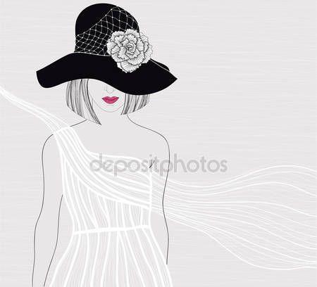 Sombrero de copa novio clipart blanco y negro clip freeuse stock Vectores de stock de Elegante sombrero de copa ... clip freeuse stock