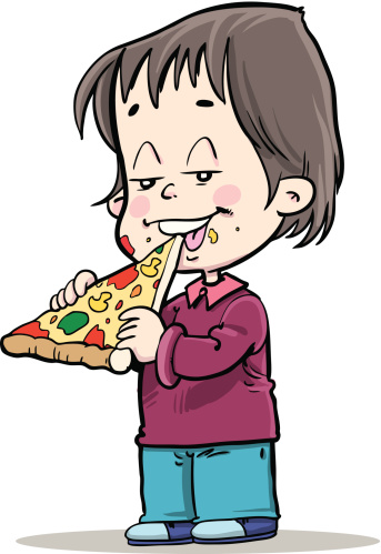 Some one eatingpizza clipart clip black and white Free Eating Pizza Cliparts Download Clip Art On Advanced ... clip black and white