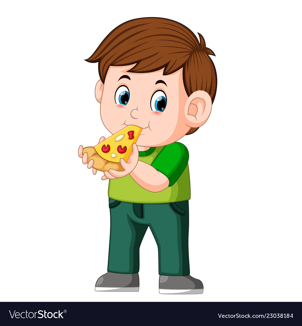 Some one eatingpizza clipart clip art download Cute boy eating pizza clip art download