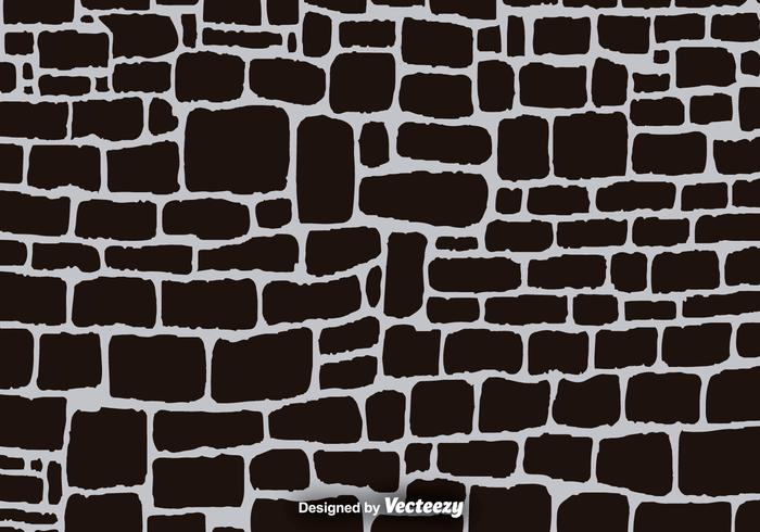 Stone wall pattern clipart clipart transparent stock Black Cartoon Stone Wall Vector Background - Download Free ... clipart transparent stock