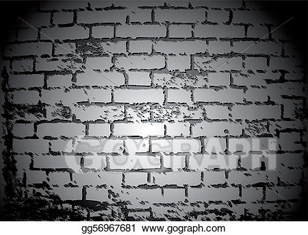 Someone looking over wall vector clipart black and white png black and white Vector Clipart - Black and white brick wall. vector. Vector ... png black and white