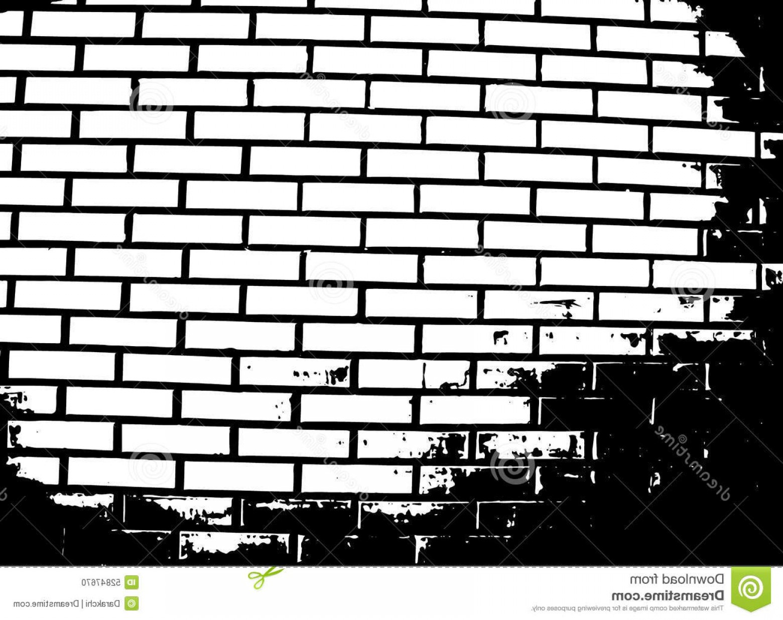 Someone looking over wall vector clipart black and white png black and white Stock Illustration Brick Wall Vector Illustration Grunge ... png black and white