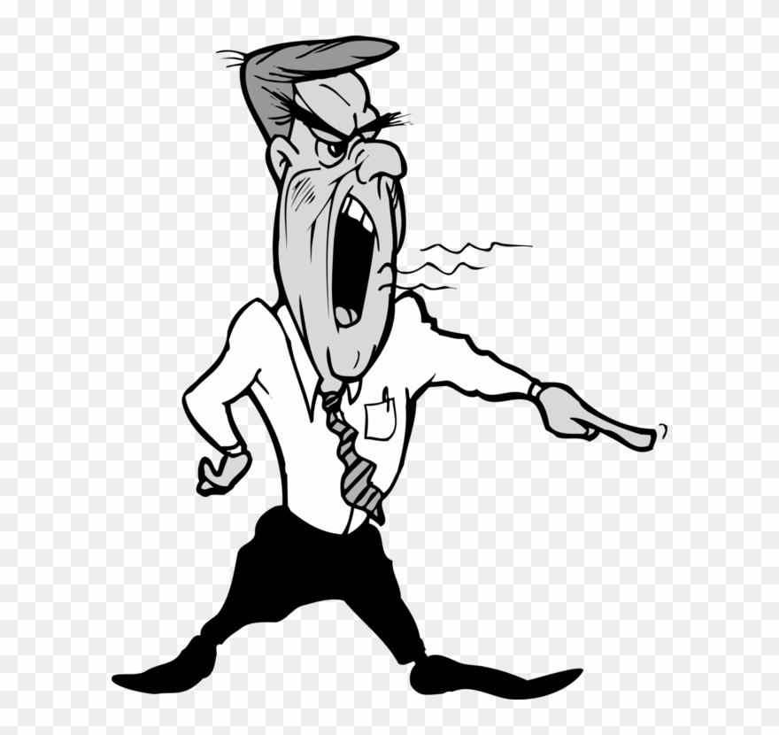 Someone shouting clipart svg free download Shouting Man Line Art Person Human Behavior - Boss Clipart ... svg free download