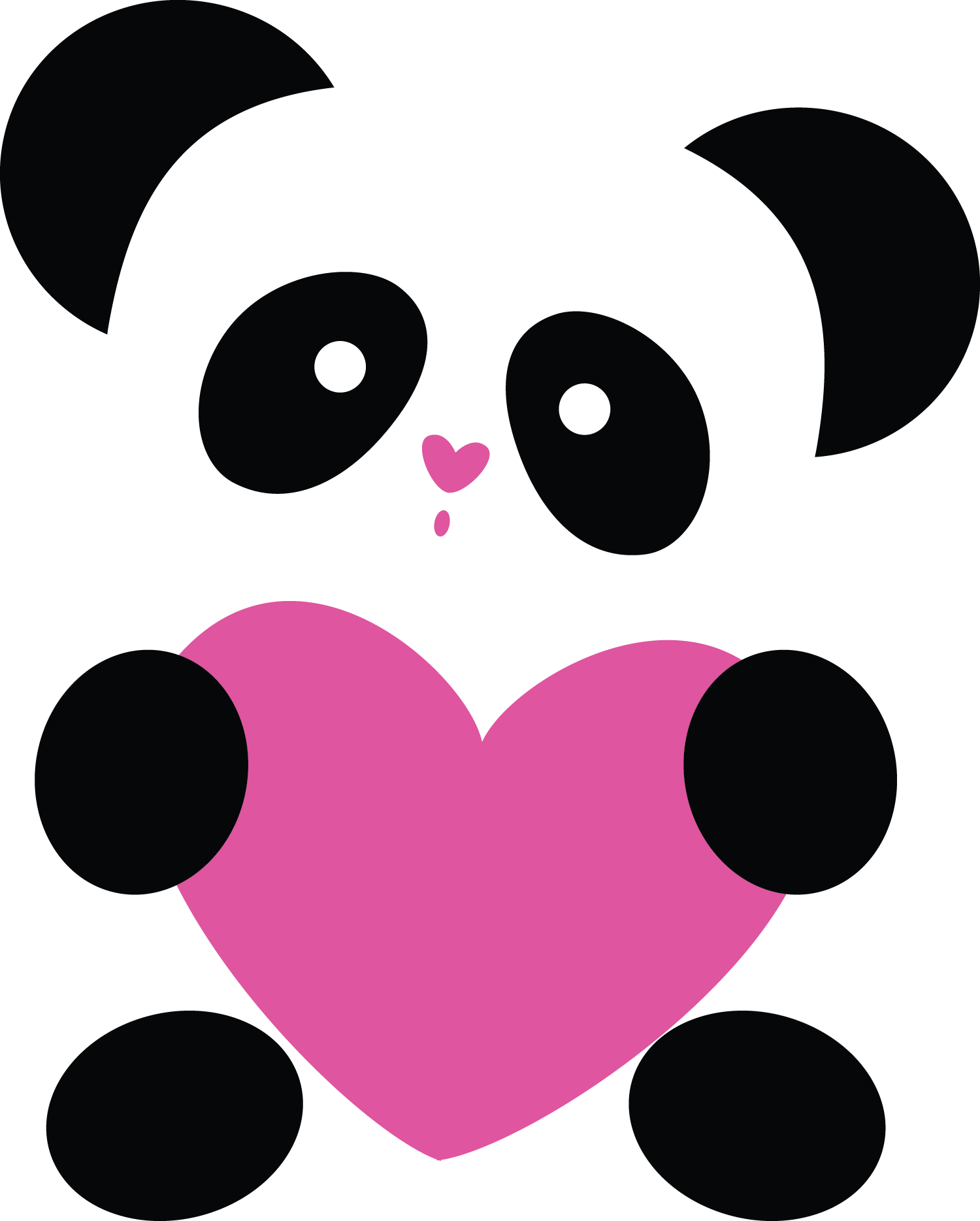 Something wearing a crown kawaii clipart image freeuse library El amor lo vale todo ❤ | Corazón | Pinterest | Panda and Kawaii image freeuse library