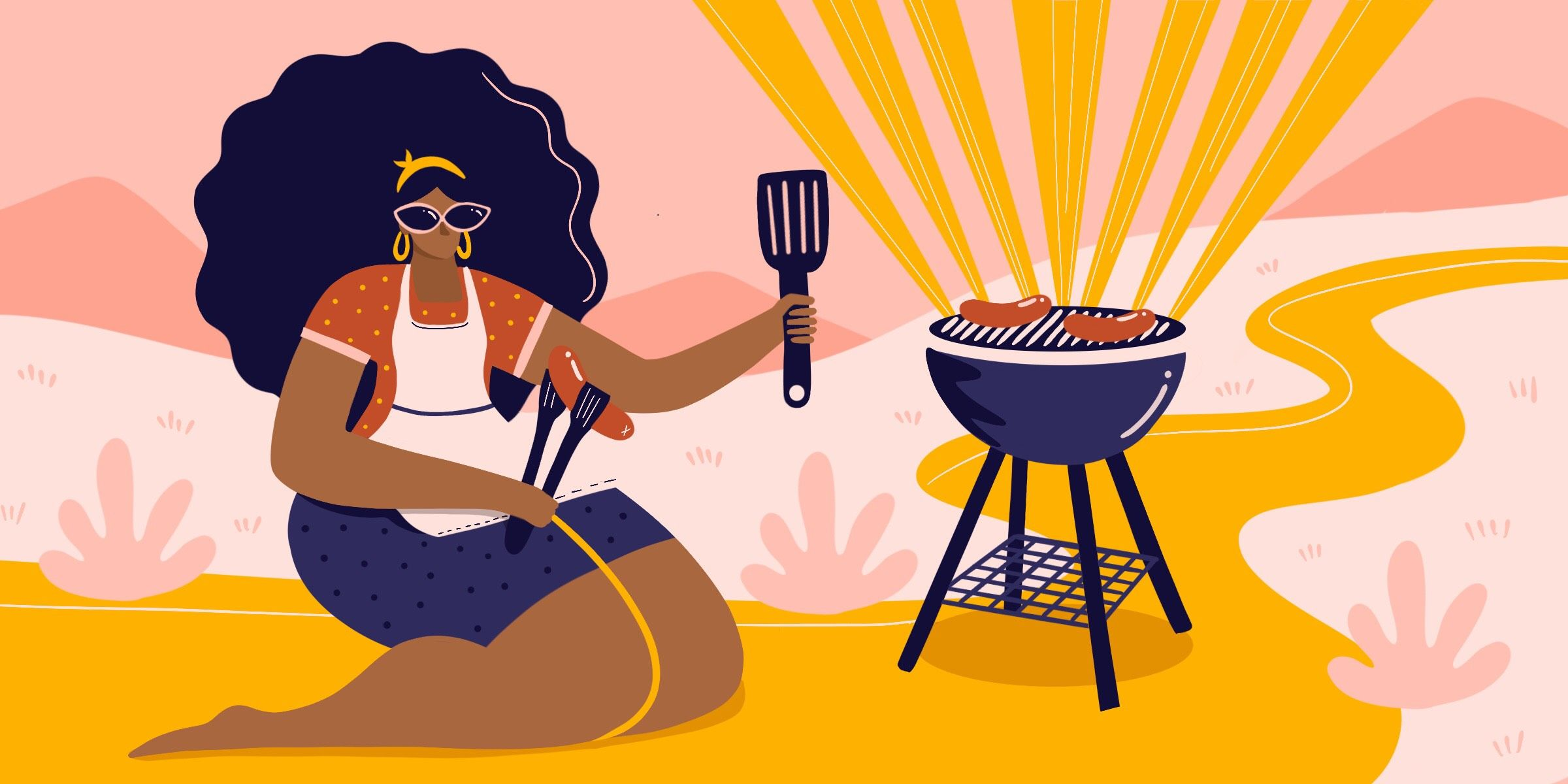 Son daughter cooking baking bbqing cliparts clipart How I Mastered the Grill, and Found Freedom in My Own Backyard clipart