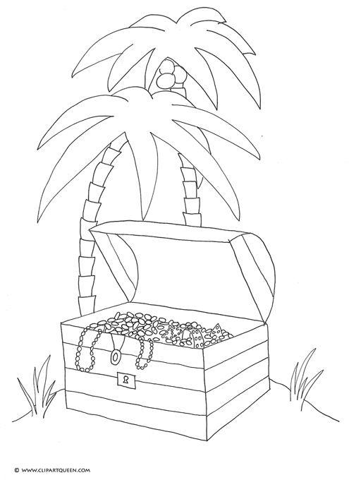 Sontreasure island clipart graphic black and white download Son Treasure Island Clip Art | Pirate Treasure Chest Island ... graphic black and white download