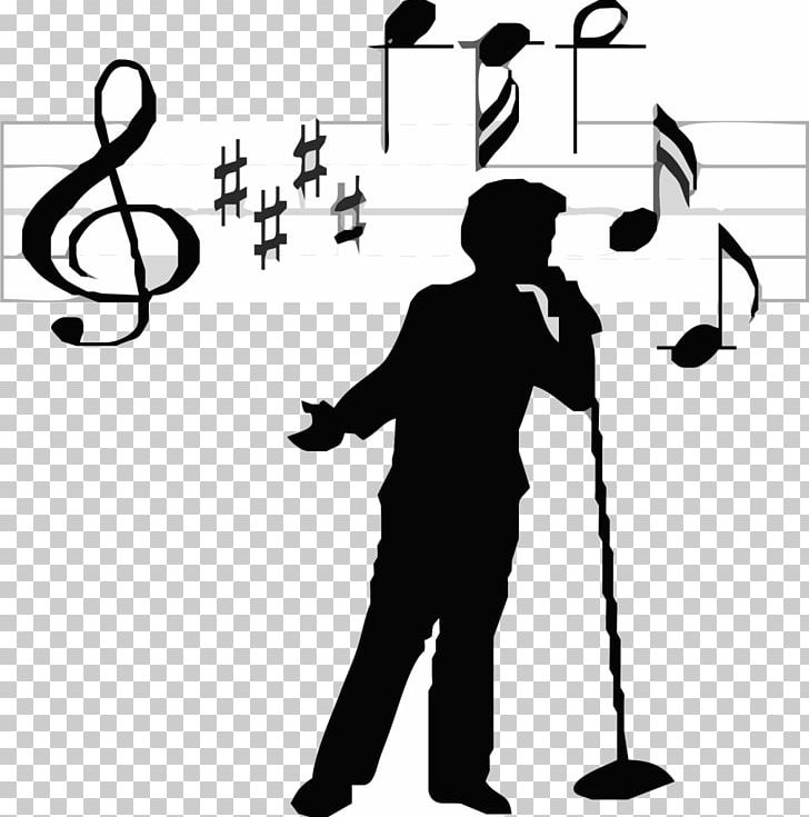 Singing black and white clipart clip download Singer-songwriter Singing PNG, Clipart, Angle, Area, Black ... clip download
