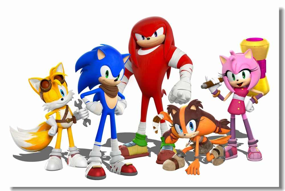 Sonic boom clipart banner royalty free library Custom Canvas Wall Decoration Mario & Sonic The Hedgehog ... banner royalty free library