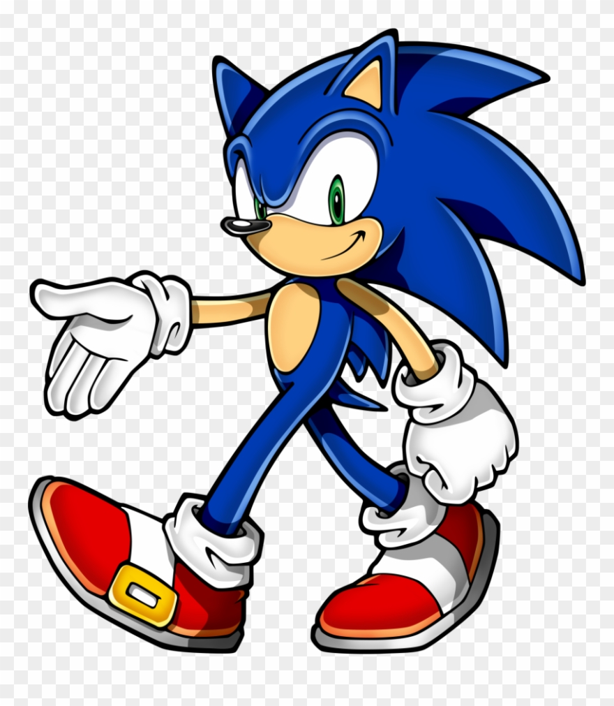 Sonic the hedgehog cliparts image black and white download Sonic Clip Art - Sonic The Hedgehog - Png Download (#104371 ... image black and white download