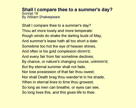 Sonnet examples clip art transparent stock Sonnet Poems Examples | Shall I compare thee to a summer's day ... clip art transparent stock