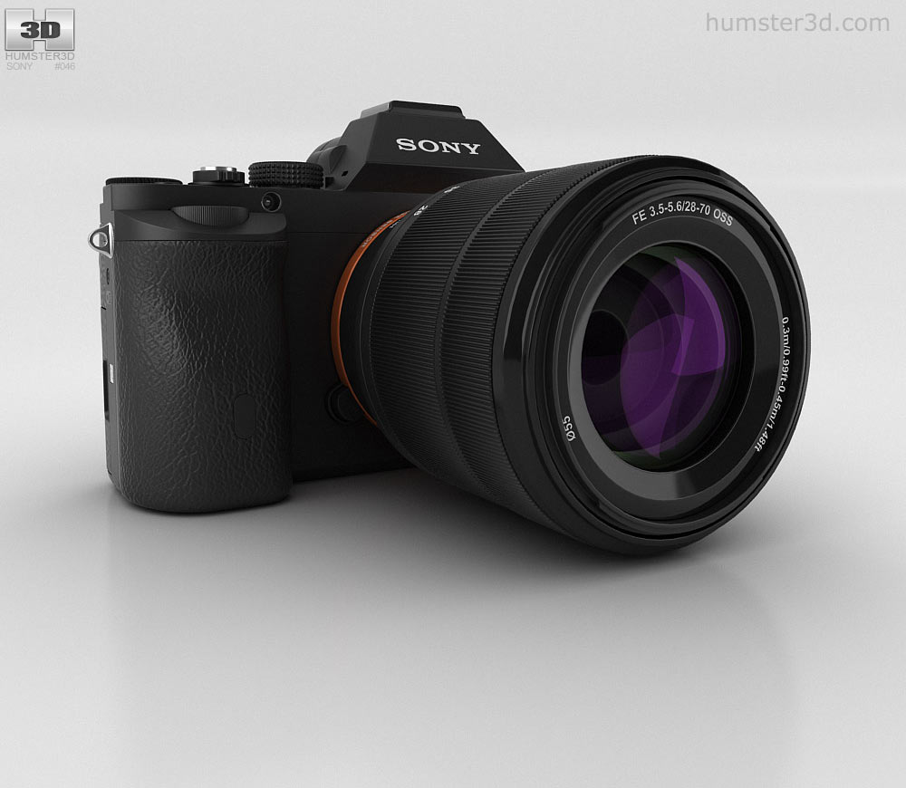 Sony a7 clipart png library stock Sony Alpha 7 3D model png library stock