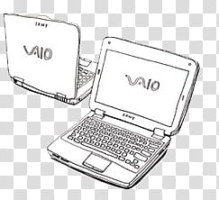 Sony vaio clipart picture library stock Sketch drawing P, two white Sony VAIO laptops transparent ... picture library stock