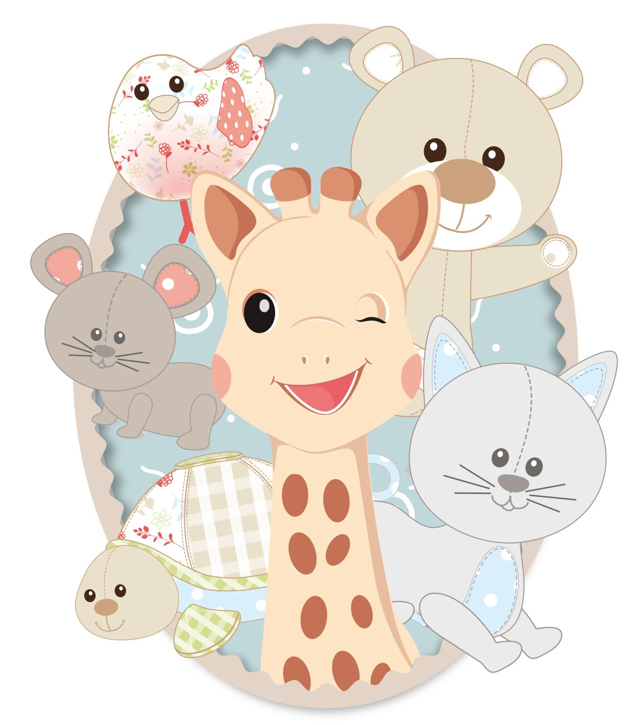 Sophie the giraffe clipart graphic free library Sophie the giraffe and friends! From Vulli | Baby Landon\'s ... graphic free library