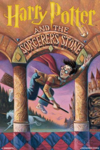 Sorcerer-s stone clipart clip freeuse library Harry Potter And The Sorcerer\'s Stone- Book Cover Art Prints ... clip freeuse library