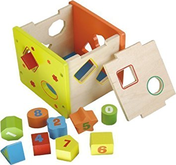 Sorting number block clipart picture transparent stock Amazon.com: Natural Wood Number & Shape Sorting Smart Cube by DIY ... picture transparent stock