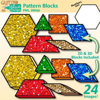 Sorting number block clipart graphic black and white download Pattern Blocks Clip Art {Counting and Sorting... by Glitter Meets ... graphic black and white download
