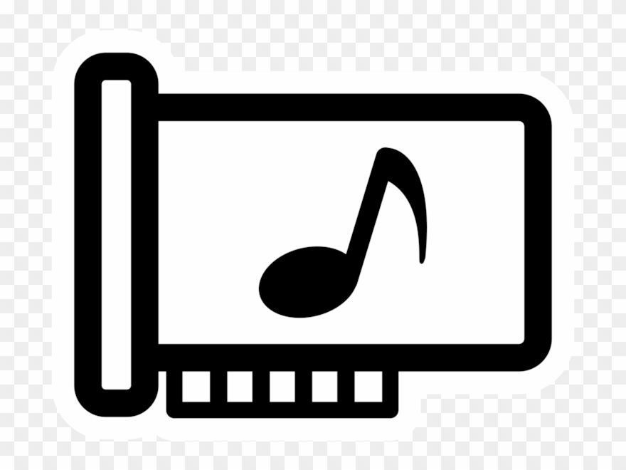 Sound card clipart jpg black and white stock Computer Hardware Computer Icons Sound Cards & Audio - Sound ... jpg black and white stock
