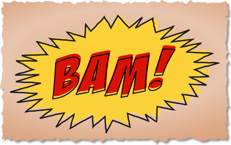 Sound effect clipart png transparent library Free Clipart: BAM comic book sound effect | studio_hades png transparent library